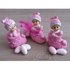 """Marturii, Bomboniere Chisinau, Marturie botez """"Bebe In Botosel Roz"""""""